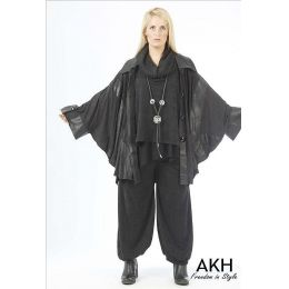 AKH Fashion Lagenlook Poncho überweit