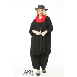 AKH Fashion Big-Shirt schwarz Übergröße