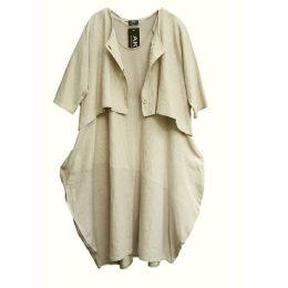 Lagenlook Kleid und Jacke Leinenanteil