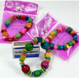 Armband aus Holz - Bunter Holzschmuck für Kinder