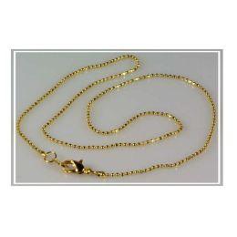 Kette - Kugelkette in Goldoptik - Halskette ca. 48 cm lang