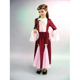 Burgfräulein - Kinderkostüm - Mittelalter - Kleid mit Jungfernkranz