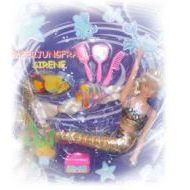 Meerjungfrau mit viel Zubehör - Puppe Nixe - Sirene