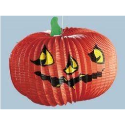 Lampion - Laterne - Kürbis - aus Papier - Halloween Dekoration