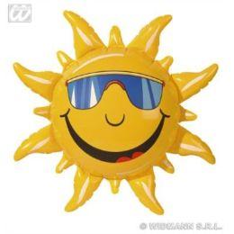 Sonne - aufblasbar - ca. 60 cm - Sonne mit Gesicht