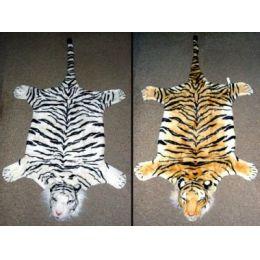 Tigerfell mit Kopf - weiß - ca. 1,40 m lang