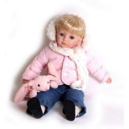 Puppe Maja im Winter-Outfit - mit Kuschelmaus - 57 cm