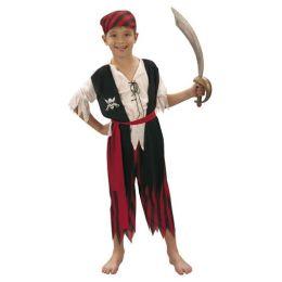 Kostüm - Kinderkostüm - Pirat - Seeräuber - Einheitsgröße 7-9 Jahre - 4tlg.