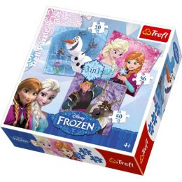 Puzzle - Frozen - 3 Puzzle in einem Set