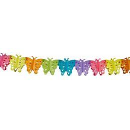 Girlande - Schmetterling - Butterfly - ca. 6 m - buntes Papier