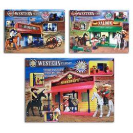 Western-Spielset - Saloon, Hauptquartier oder Sheriff - 35-39 Teile