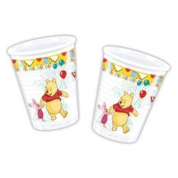 Becher Winnie the Pooh - Plastikbecher - 0,2 l - 8 Stück