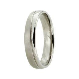 Ring aus Titan ohne Stein, Titanring für Damen oder Herren, teilmattiert