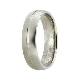 Titanring für Damen oder Herren, Ring aus Titan ohne Stein mit matter Oberfläche