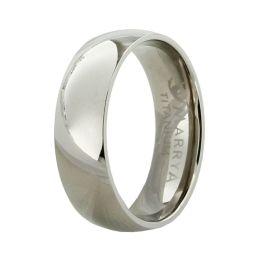 Glänzender Ring aus Titan, Titanring für Damen oder Herren ohne Stein hochglanzpoliert