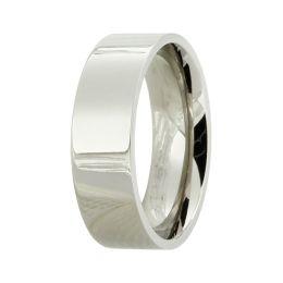 Edler hochglanzpolierter Titanring für Damen oder Herren, glänzender Ring aus Titan unisex