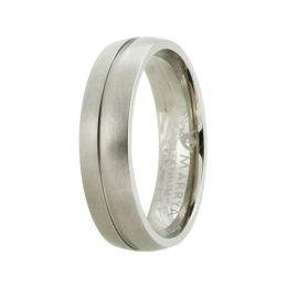 Einfacher Ring aus Titan mit mattierter Oberfläche, Titanring für Damen oder Herren