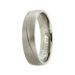 Schmaler Ring aus Titan mit matter Oberfläche, Titanring für Damen oder Herren