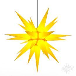 Original Herrnhuter Stern A13 aus Kunststoff für die Außen- und Innenverwendung, gelb