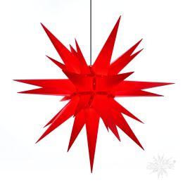 Original Herrnhuter Stern A13 aus Kunststoff für die Außen- und Innenverwendung, rot