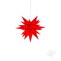 Original Herrnhuter Stern i4 aus Papier für die Innenverwendung, rot