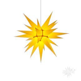Original Herrnhuter Stern i6 aus Papier für die Innenverwendung, gelb