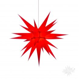 Original Herrnhuter Stern i7 aus Papier für die Innenverwendung, rot