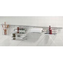 Kela Küchenleiste Wandhalterung Küchen Ablage Flex 14 tlg.