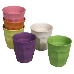 Becher Set Rainbow Tasse 6 Stück M Kinderbecher 100 % Bio nachhaltig 150 ml umweltfreundlich