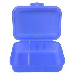 Brotbox blau mit 2 Trennstegen Brotzeitbox Brotzeitdose Frühstücksdose Dose Brotdose Brotzeit
