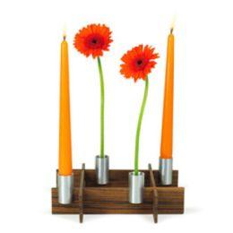 Steckvase und Leuchter fest-x Blumenvase Kerzenleuchter Kerzenhalter Kerzenständer