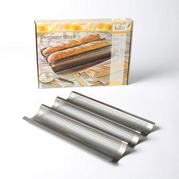 Baguetteblech Antihaftbeschichtung Baguettebackblech Baguette-Backblech Brotbackform Backform Blech