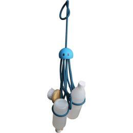 Shampoohalter Octopus grün blau Duschregal Duschgelhalter zum Hängen ohne Bohren Duschablage Ablage