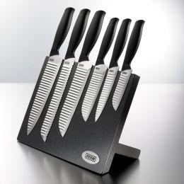 Messerblock Hanshu-Do Master 7-teilig schwarz Magnet mit Messer bestückt Set Küchenmesser Messerset