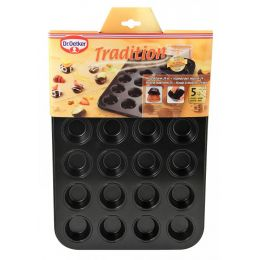 Muffinform Muffin-Backform Muffinblech Mini Muffinförmchen Cupcakes 24 Muffins