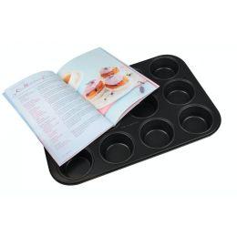 Muffin-Backform mit Backbuch Muffinform Muffinblech Cupcakes Muffins 12 Set Muffinförmchen Backblech