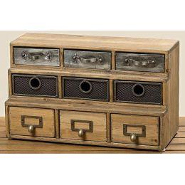 Kommode Teslar Schubladenkommode klein Schubladen Aufbewahrung Holz Holzkästchen Schmuckkästchen