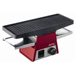 Spring Tischgrill heißer Stein Grill Grillplatte Raclette2+ rot Basisgerät
