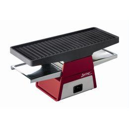 Spring Raclette 2+ Erweiterungsmudol rot Tischgrill Grillplatte Grill Raclett