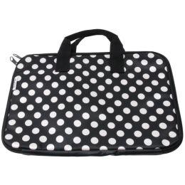 Laptoptasche Dots schwarz Tasche Aufbewahrung Laptop Transport Laptoptragetasche