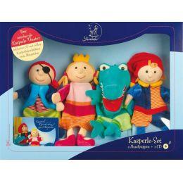 Kasperle-Set 4 Handpuppen + 1 CD Spielzeug Puppen Fingerpuppen Figuren spielen