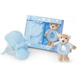 Geschenk-Set Billy Babyspielzeug Greifling Rassel Babymütze Fäustel Geschenk Set