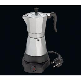 Espressokocher Classico für 6 Tassen elektrisch Espresso Mokka kochen Aluminium