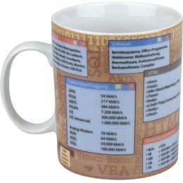 Becher Informatik Tasse Porzellan Schule Computer