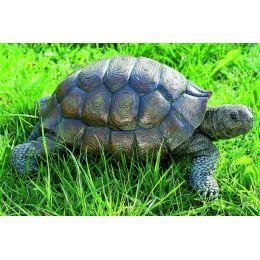 Schildkröte Kunstharz 34 cm Gartendeko Gartenfigur Tierfigur Gartentier Tier Landschildkröte Garten