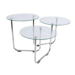 Couchtisch 3 in 1 Beistelltisch Couch-Tisch Glastisch Glas-Tisch Tisch Wohnzimmertisch