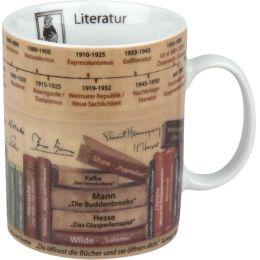Becher Literatur Wissensbecher Themen-Becher Kaffeetasse Tasse Kaffee Teetasse Tee Porzellan