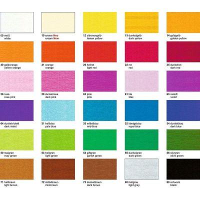 Krepp-Papier 32g/m², 250 x 50 cm BASTELKREPP in vielen Farben auch gold und silber   4020 300