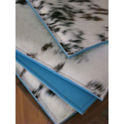 Sitzauflage COW Tricolor - Stuhlauflagen aus Filz und Kuhfell, dreifarbig | 547480560