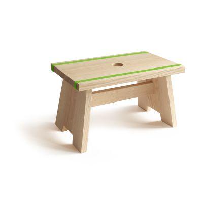 Fußschemel aus Holz mit Silikonband, kleiner Tritthocker | 831847211